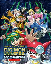 Digimon Universe App Monsters DVD Vol.1-52 end with English Sub Ship From USA