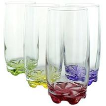 Splash of Color Water & Beverage Highball Glasses, 12.5 Ounce - Set of 4 - $21.13