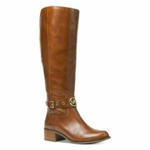 Michael Michael Kors Heather Women Leather Riding Boot Size US 5.5M Dark... - $70.20