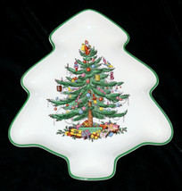 "Spode Christmas Tree * Tree Shaped Platter / Serving Dish * 10 3/4"", Good Condtn - $10.99"