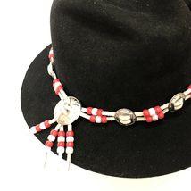 Vtg Western Outback Hat Mens Black Wool Felt Indiana Jones Dorfman Pacific USA  image 8
