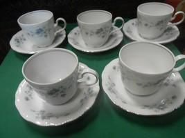 Beautiful Collectible JOHANN HAVILAND Bavaria BLUE GARLAND-Set 5 CUPS & ... - $22.36