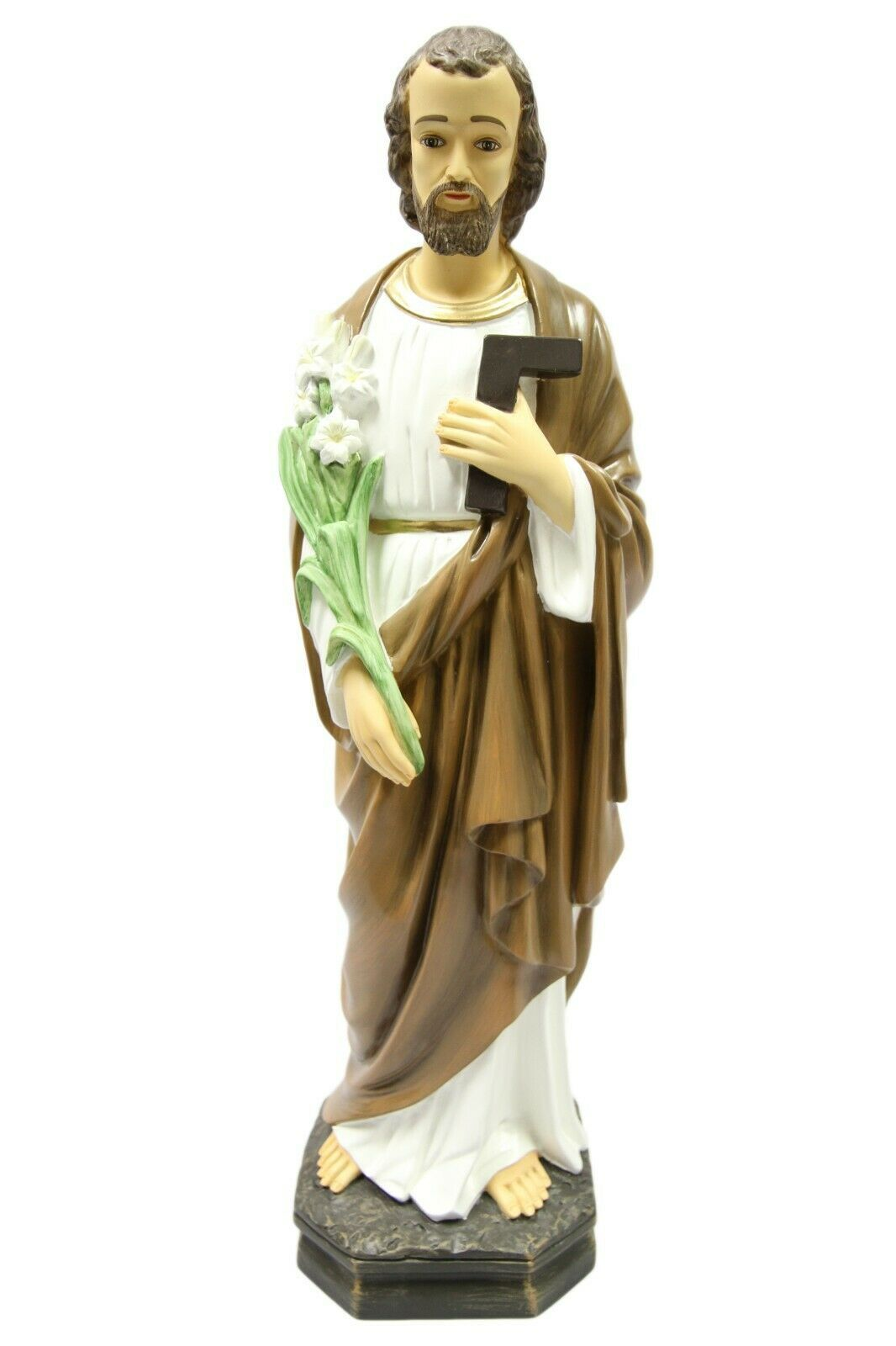 "Primary image for 24"" Saint St Joseph the Worker Catholic Statue Sculpture Vittoria Made in Italy"