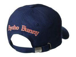 Psycho Bunny Men's Navy Embroidered Strapback Hat Sports Cotton Baseball Cap image 3