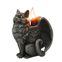 Pacific Giftware Winged Angel Cat Standing Gargoyle Candle Holder - $24.74