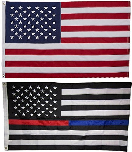 ALBATROS USA and First Responder Flag 3 ft x 5 ft Embroidered 2 Double Sided Fla