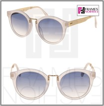 JIMMY CHOO Pepy Translucent White Gold Blue Gradient Cat Eye Sunglasses PEPY/S - $227.70