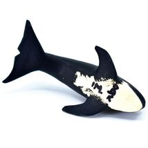 Handmade Alebrijes Oaxacan Wood Carved Black & White Orca Killer Whale Figurine image 5