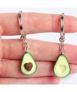 2PCS Simulation Fruit Avocado Heart Friendship Couple Keychain Keyring J... - $2.99