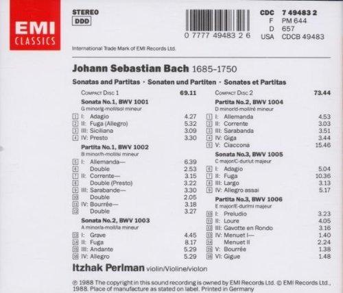 Bach: Sonatas & Partitas [Audio CD] Itzhak Perlman and Johann Sebastian Bach
