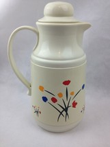VTG Insulated Coffee Carafe Glass Lined Thermal Server Hot Cold Pot Flor... - $16.93