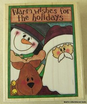 "NEW RUBBER STAMPEDE WARM WISHES FOR HOLIDAYS A2317F 3 x 2.25"" - $3.74"