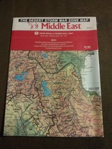 """The Desert Storm War Zone Map Middle East 34"""" x 52"""" Rand McNally Wall At... - $15.67"""