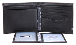 Nautica Men's Genuine Leather Credit Card ID Double Billfold Passcase Wallet image 7