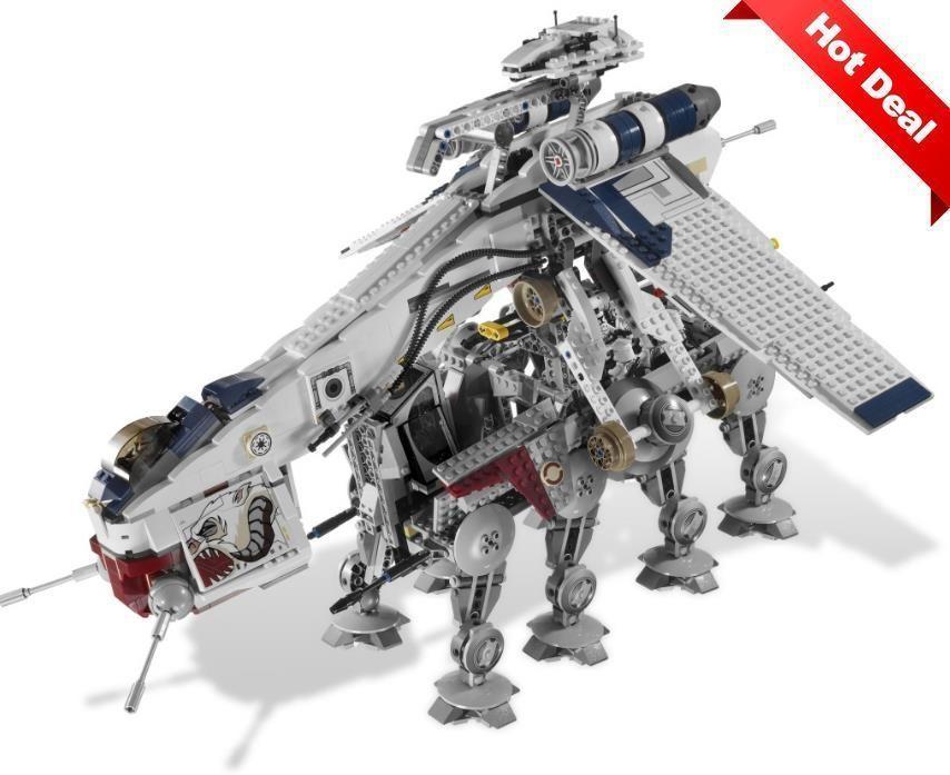 05053 Republic Dropship with AT-OT Walker 10195 Star Wars Custom Blocks 1788 Pcs