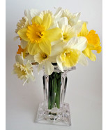 "Crystal Candle Holder Flower Vase Square Quad Prism PartyLite P7374 Tall 7"" - $52.42"