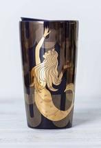 Starbucks 2020 Siren Mermaid Gold Double Wall Traveler Tumbler NEW - $20.50