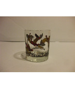 Glass Tumbler Red And Gold Bird Design 6-10oz - $8.90