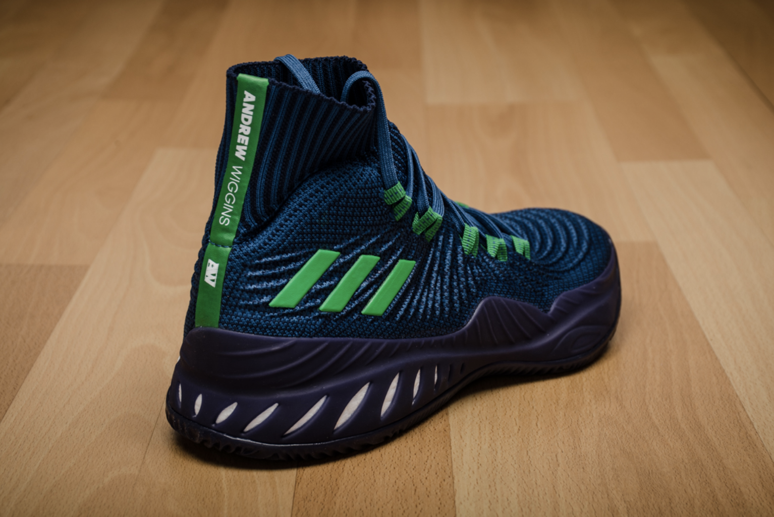 san francisco d1a00 49c65 ... NEW! adidas CRAZY EXPLOSIVE PRIMEKNIT Andrew Wiggins Navy Blue Shoes  BY4468 PE ...