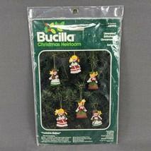 VTG Bucilla Twinkle Belles Jeweled Felt Applique Christmas Ornament Kit 48995 - $17.37