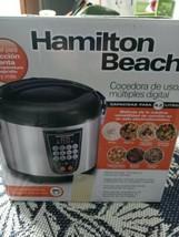 Hamilton Beach Digital MultiCooker | 4.5 Quart | Stainless Steal - $28.12