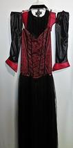 Goth Costume Spirit Halloween Long Dress Choker Collar Veil Sleevelettes Adult L - $21.66