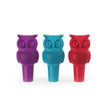 funny wine bottle stopper, Hoot Owl novelty reusable wine bottle stopper - $16.89
