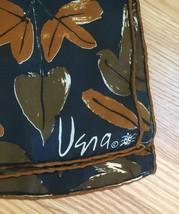Vintage 60s Vera Neumann square silk scarf (Fall Leaves with ladybug) image 3