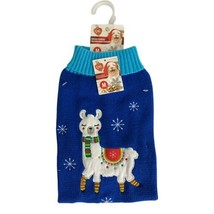 Dog Sweater Llama Size Medium Stars Scarf Christmas Holiday Sweater Soft... - $10.70