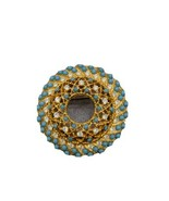 Sara Coventry Brooch / Pin w Blue and Clear Stones - $44.55