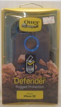 BRAND NEW IPHONE 5C BLACK / BLUE OEM OTTERBOX DEFENDER WITH CLIP - $14.95