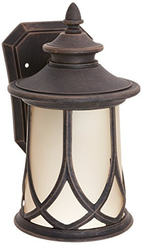 Progress Lighting P5987-122 Resort Collection 1-Light Wall Lantern, Aged Copper