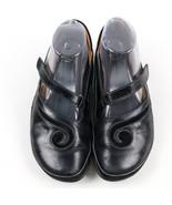 Abeo Naot Matai Mary Jane Swirl Black Leather Sandal Adjustable 37 6.5 6 - $50.48