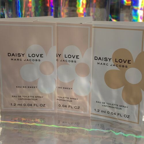 3 Piece Lot MARC JACOBS DAISY LOVE 1.2mL (3.6 mL Total)