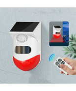 Human Body Infrared Sensing Remote Control Solar Alarm - $33.43+