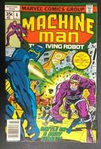 MACHINE MAN #4 (1978) Marvel Comics Jack Kirby VG+/FINE- - $12.86