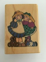Comotion My Pal #807 Rubber Stamp Donna Malone Plush Dolls Country Crafts Art - $3.00
