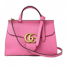 Gucci GG Marmont Chain Shoulder Bag 421890 Pink Leather Purse Auth New U... - $2,449.75