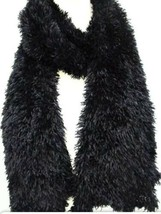 Amazing Scarf Black 26 Ways To Wear 5ft Stretchy Soft Lightweight As See... - $9.89