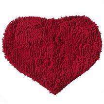 PANDA SUPERSTORE Heart-Shaped Bath mat Door mat Absorbent Non-Slip Mats (57 by 4