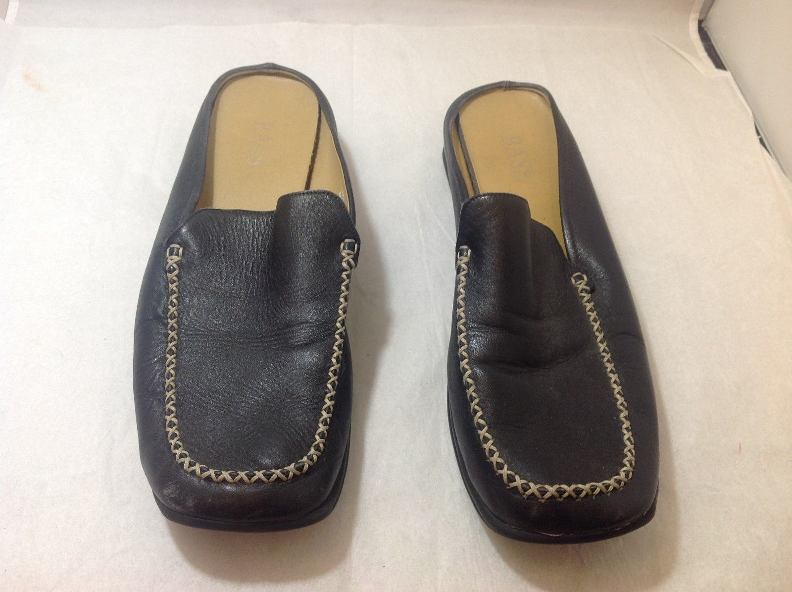 Men's Black BASS Slippers Sz 11M