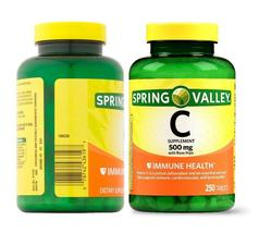 Spring Valley Vitamin C 500mg Rose Hips Immune Health Support 250 Tablets Pills - $28.99