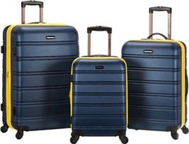 Rockland Melbourne 3 Piece Luggage Set $480 - NEW - FREE SHIPPING - in Navy - $184.09