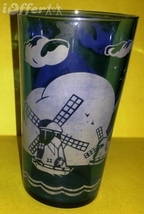 DEPRESSION GLASS-- HAZEL ATLAS RITZ BLUE WINDMILL HI BALL GLASS - $14.95