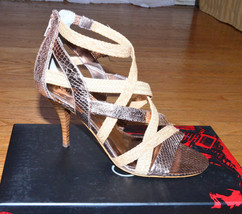 CARLOS SANTANA Gold Strap Shoes Hills Pumps Nouvelle Dress Sandals size ... - $69.27