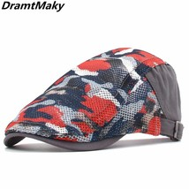 Mesh Beret Summer Men Women Cap Adjustable Newsboy Ivy Flat Cap Breathab... - $10.79