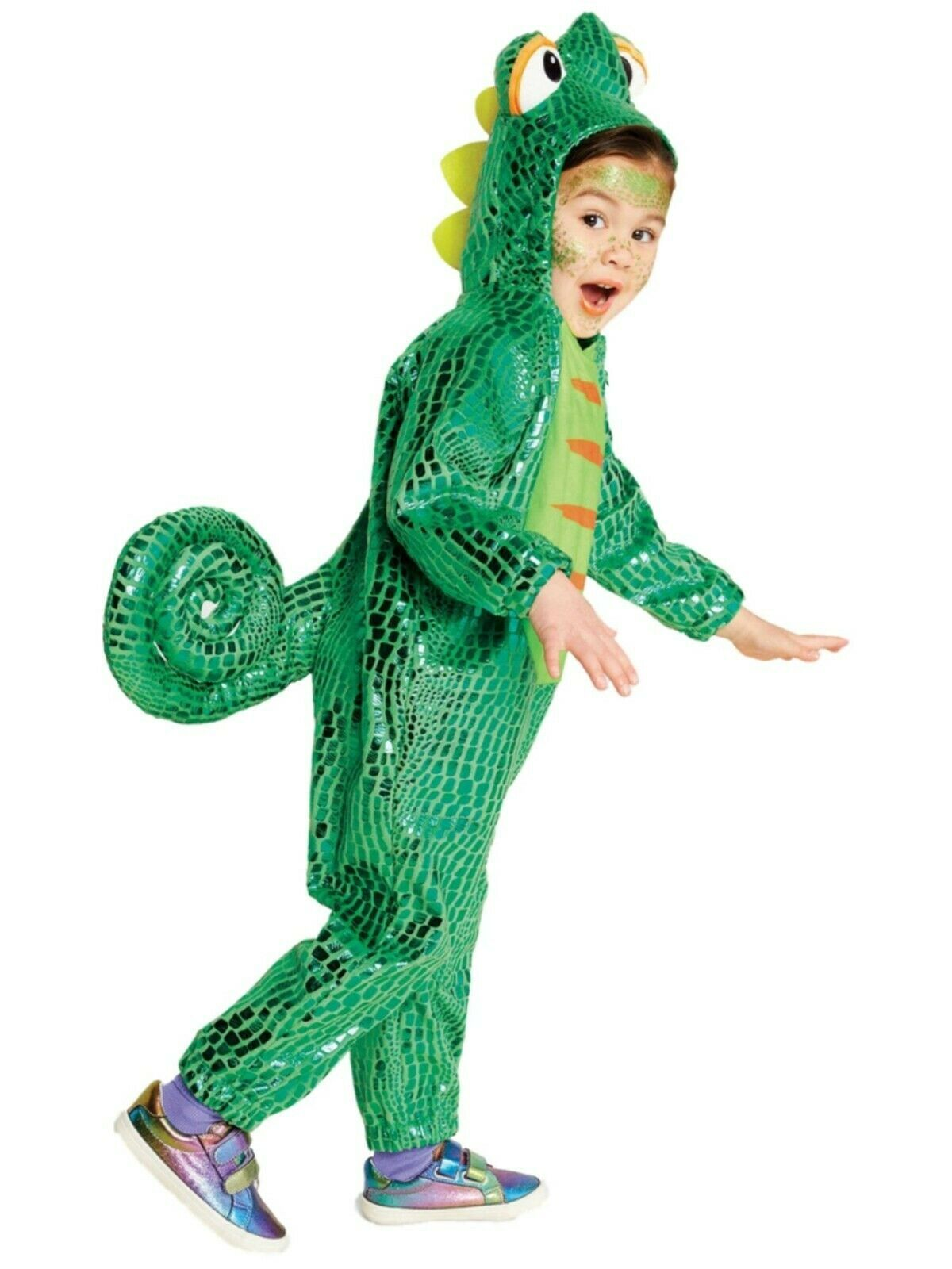 Primary image for Shiny Green Plush Chameleon Hooded Halloween Costume 4T-5T Hyde & Eek! Boutique