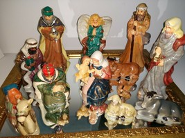 Holiday By Kirkland's 13-Piece Ceramic Nativity Set Handpainted & Mirror - $12.60