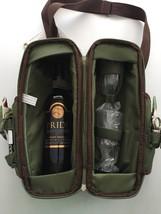NWT Picnic Time Estate Deluxe Wine Tote Set 2 Glasses Napkins Corkscrew ... - $19.99