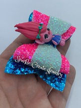 Poppy Clay Glitter Bow image 3